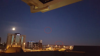 Glowing UFO's Caught Above Glasgow 2015, UFO Sightings
