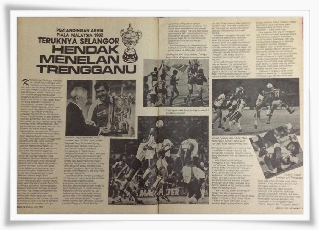 Piala Malaysia 1982: Selangor lawan Terengganu FA.