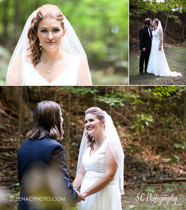Woods forest wedding photos portraits wedding photographer Buchanan michigan