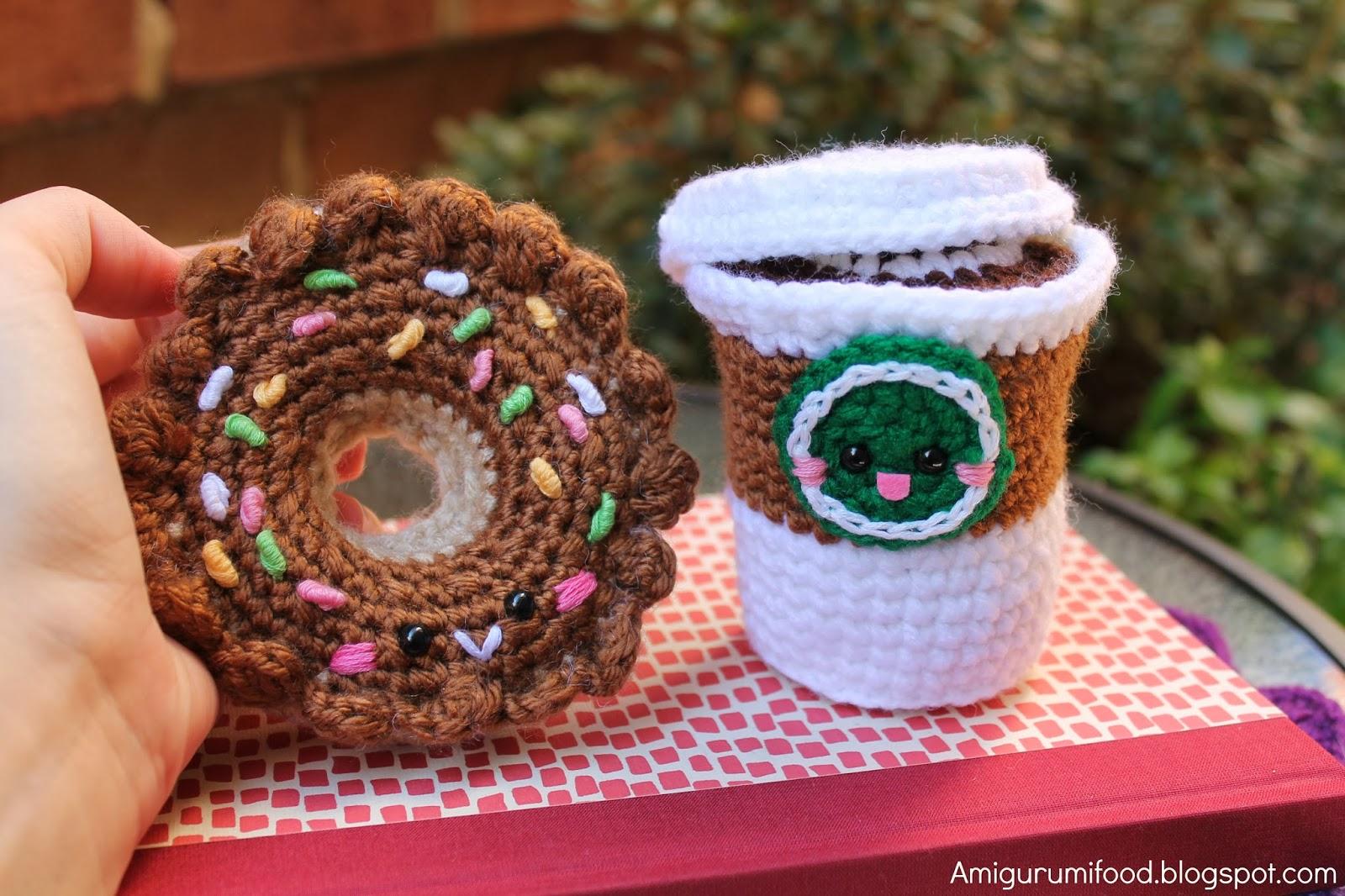 Amigurumi Crochet Food Patterns : Amigurumi Food: New update Donut Amigurumi!!