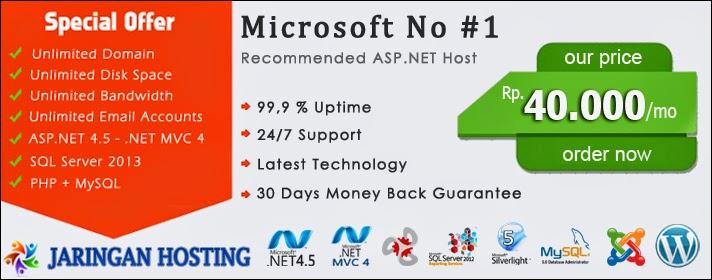 ASP.NET 4.5.2 Hosting Indonesia - JaringanHosting.com