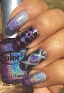 Color Club Holo Cheeky Jumbo 10 Stamping & Nail Vinyls