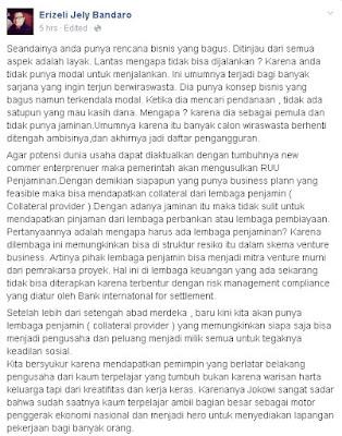 Erizeli Jely Bandaro - Collateral Provider