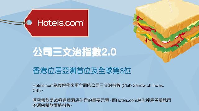 HK$237蚊份【公司三文治 】你食過未?原來餐飲價格 香港都係排第3貴、台灣排第17。