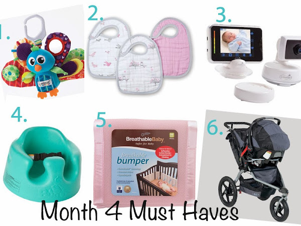 Must haves for Baby - Month 4
