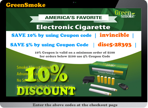 Can't find a code? Request one.. Connect with Green Smoke. You are viewing current trailfilmzwn.cf coupons and discount promotions for December For more about this website, and its current promotions connect with them on Twitter @GreenSmoke Visit trailfilmzwn.cf