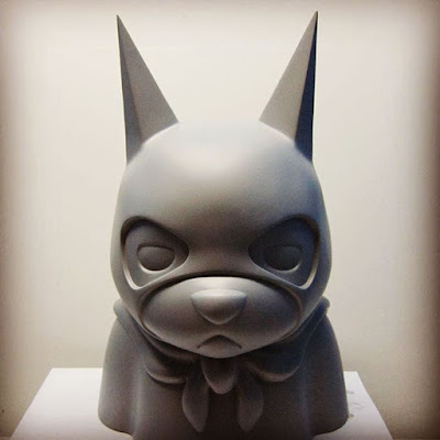 "Singapore Toy, Game and Comic Convention 2015 Exclusive STGCC Exclusive ""White"" Bat Bear Resin Bust by Luke Chueh & Mighty Jaxx"