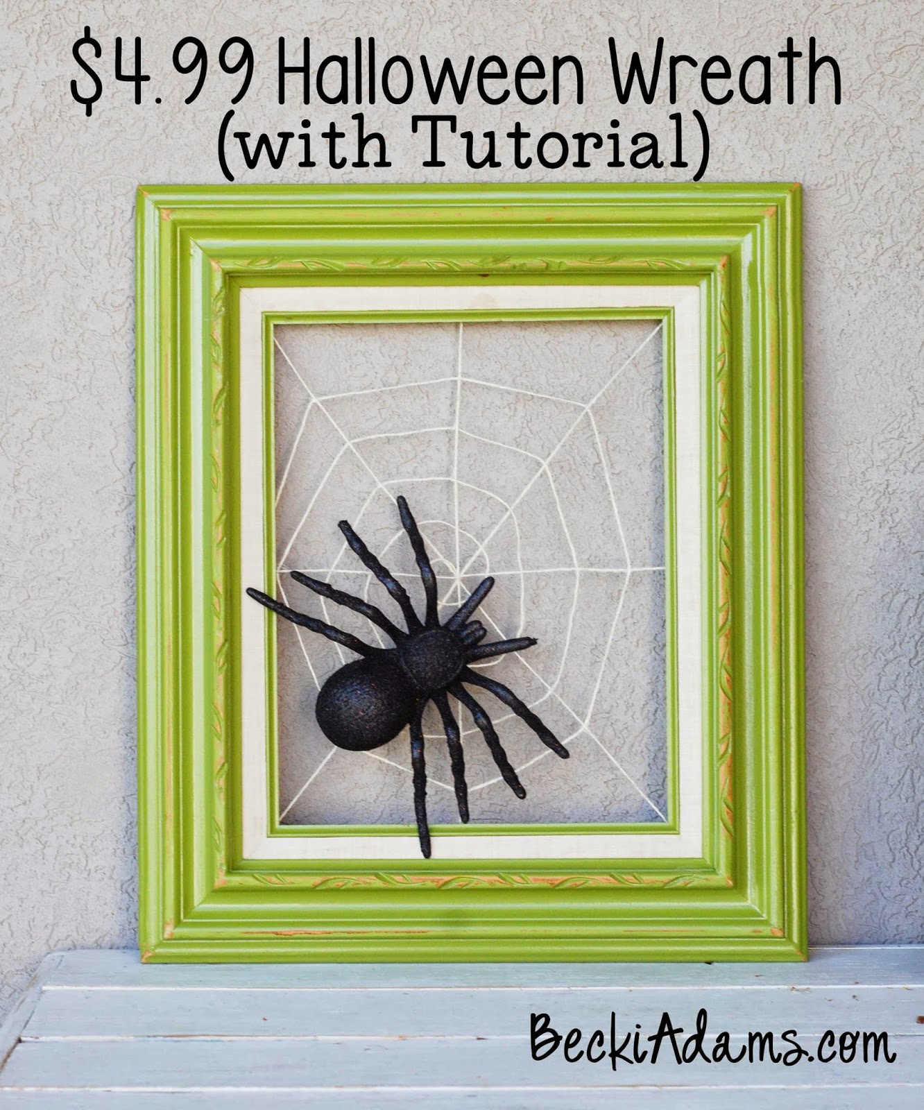 Halloween Wreath Tutorial, Easy Halloween Wreath, Spider Web wreath,