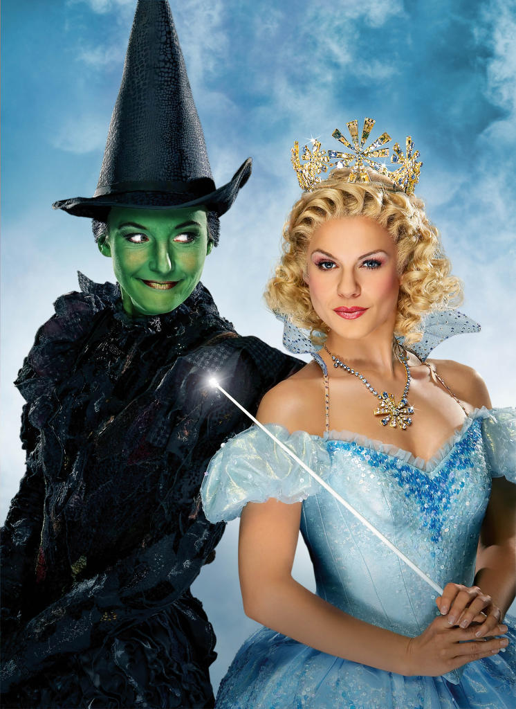 wizard of oz, wicked, elphaba and glinda