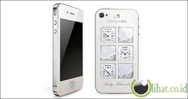 Ponsel Android Gresso Lady Blanche iPhone 4