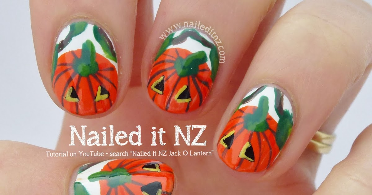 Jack-O-Lanterns - Nail Art Tutorial