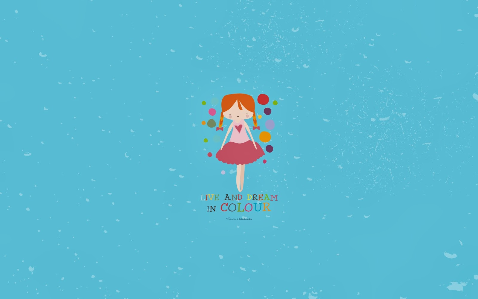 fondo de escritorio gratis live and dream in colour