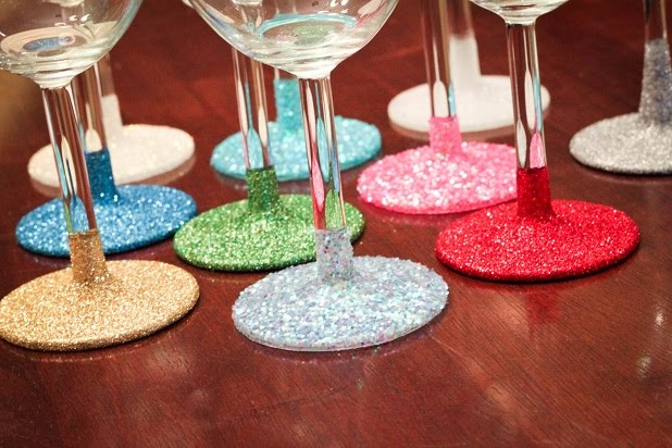 Handmade Glitter Glass