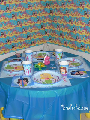 mermaid party backdrop decorations