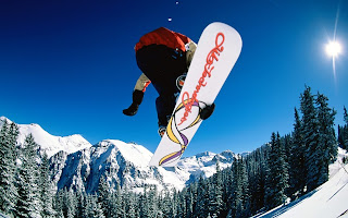 Snowboarding Jump wallpaper