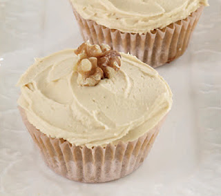 Homemade Coffee and Walnut Cupcakes