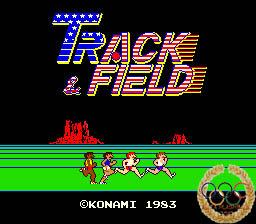 Track and Field 1983 Konami, botones y olimpismo.