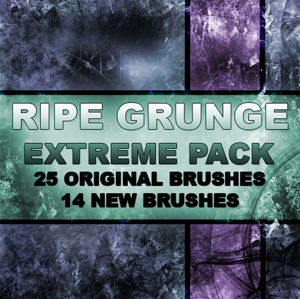 RIPE GRUNGE EXTREME BRUSH PACK by RazorICE 30 Must Have Grunge Photoshop Brushes Collection Set