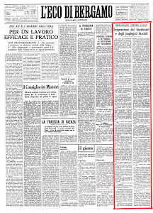 """""""ECO DI BERGAMO"""" 16 MAGGIO 1945"""