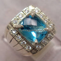 Batu Permata Natural Blue Topaz