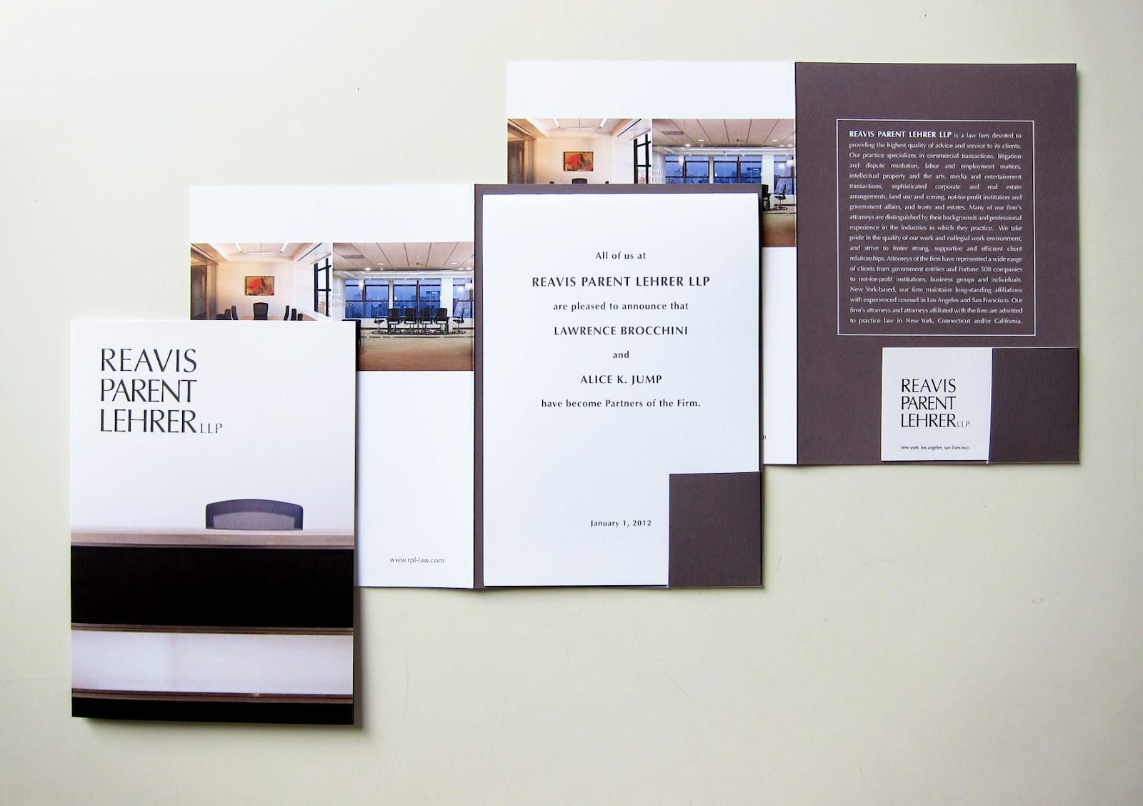 Lehrer architects office design Los Angeles We Just Designed Additional Marketing Materials For One Of Our Longstanding Clients Reavis Parent Lehrer Llp Initiated By Mads Office Design At 41 Fireplace Matiz Architecture And Design Mad Branding For Reavis Parent Lehrer Llp