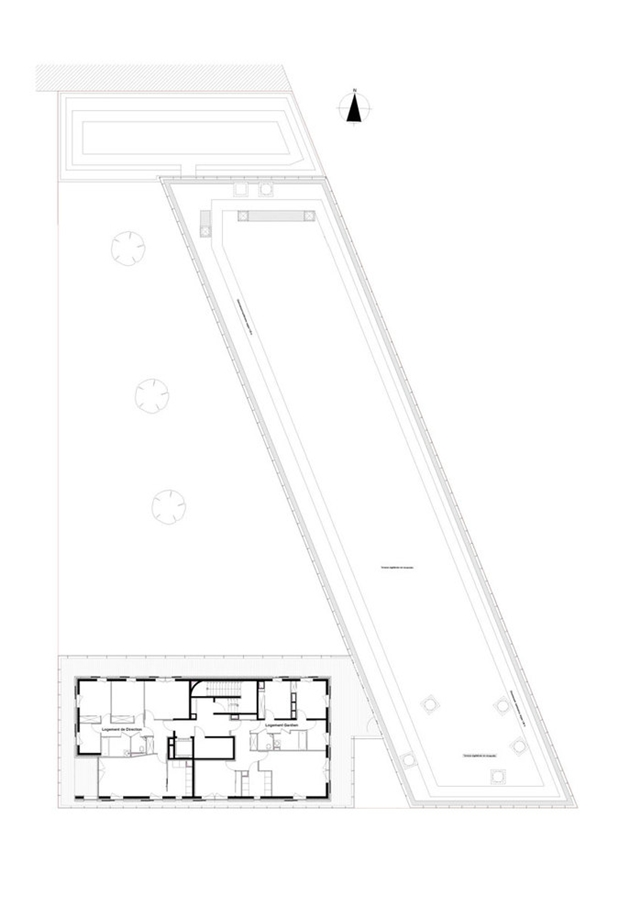 Floor plan of the roof of the school