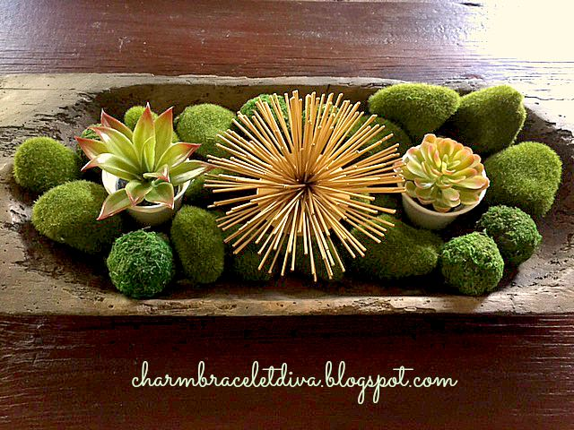 Succulents dough bowl display