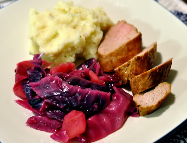 Beer-Marinated Pork Tenderloin with Red Cabbage | Taste As You Go
