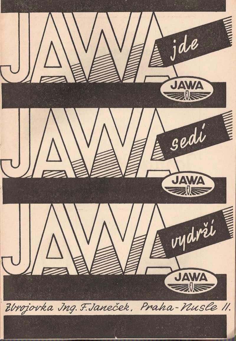 Czeska reklama Jawy