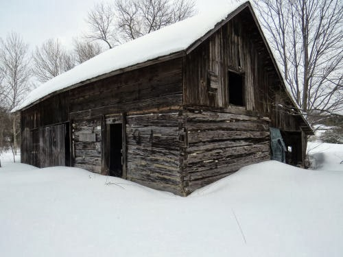 Finnish log barn