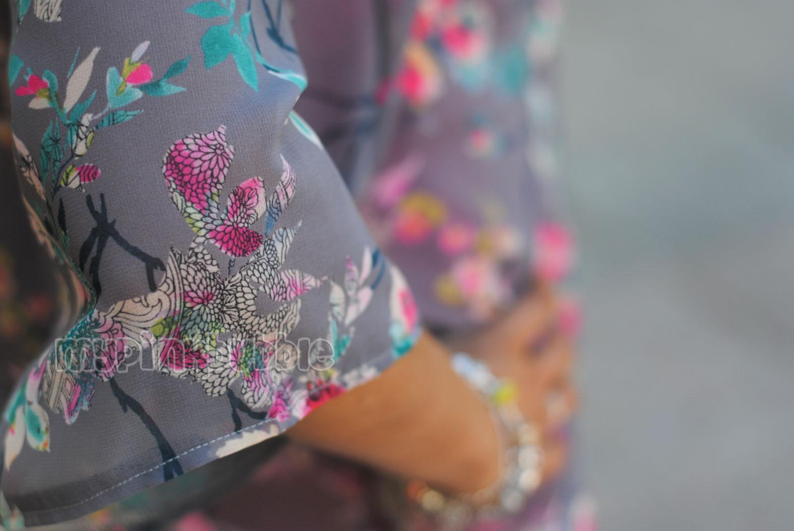 Outfit Kimono Primark flores