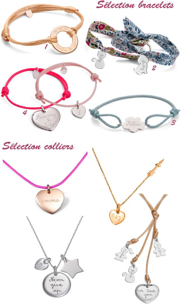 Sélection de bijoux Merci Maman