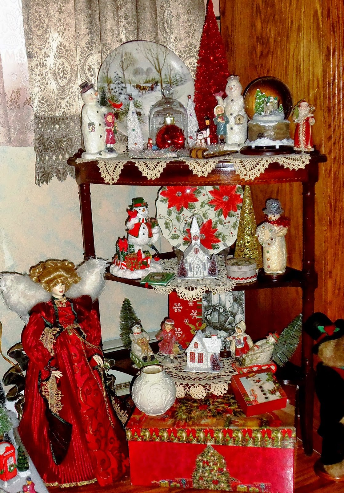 An Old Fashioned Christmas in the Other Half of the Living Room, Part 5 ,Christmas Home Tour 2014
