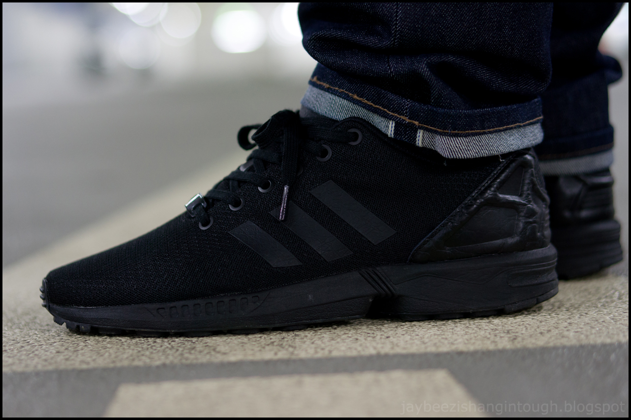 Adidas Flux Black On Feet