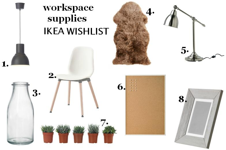 Interior design: Workspace supplies, Ikea wishlist