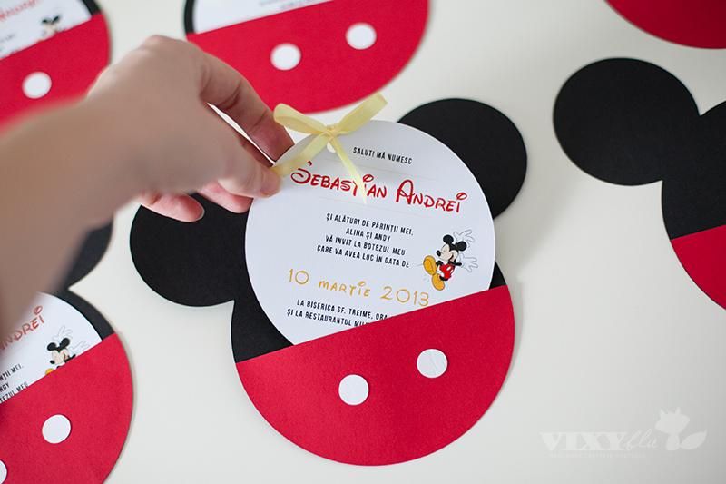 invitatie Mickey, Mickey Mouse, pachet petrecere copii Mickey