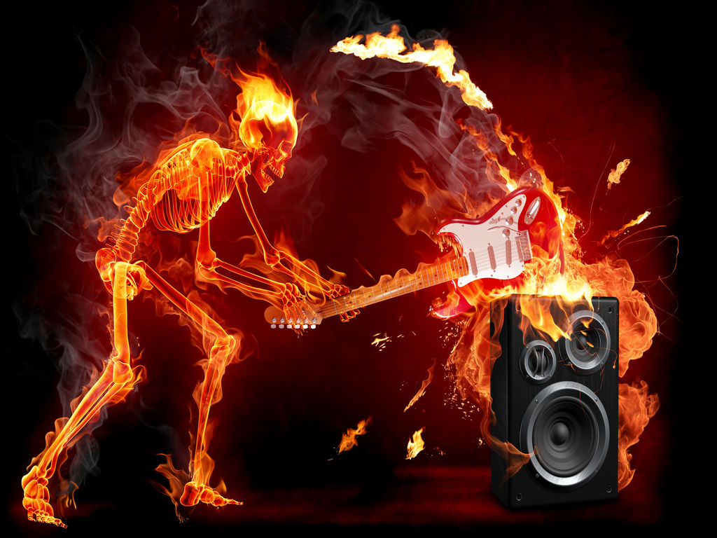 guitar on fire wallpapers - photo #15