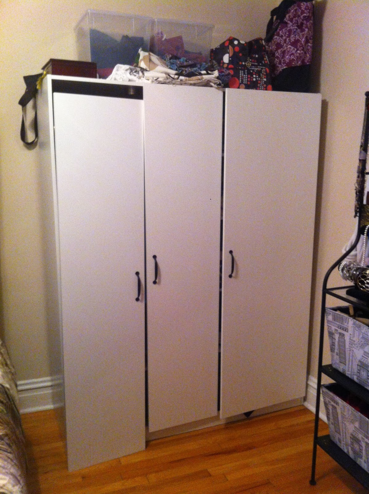 Tinted Glass Cabinet Doors Ikea ~ Living Large in Small Spaces Latest IKEA hack DOMBAS Wardrobe
