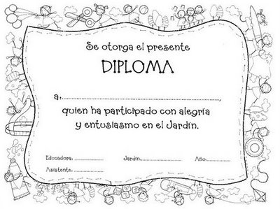 Marcos para diplomas infantiles - Imagui