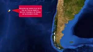 Epicentro sismo 6,0 grados Océano Pacífico, el 1 de Noviembre 2014