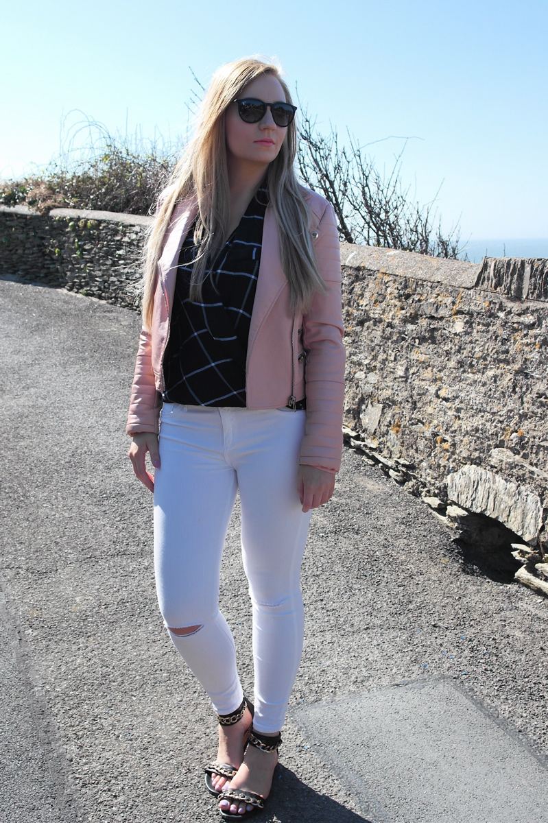 Missguided pink biker jacket