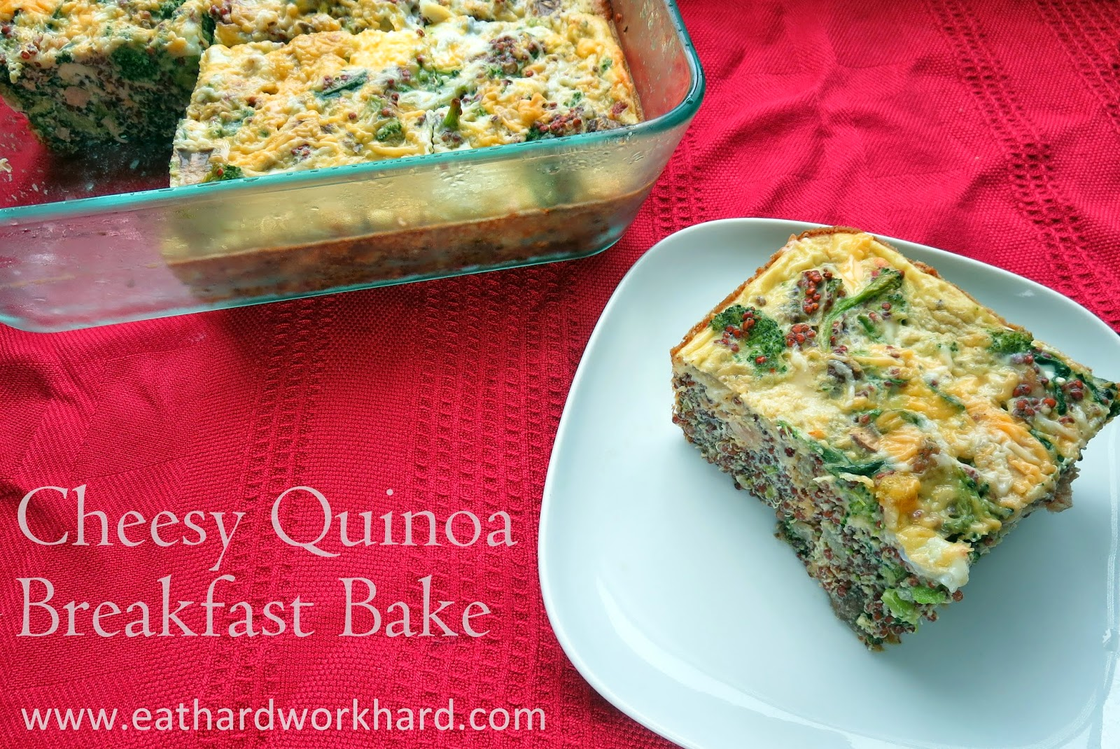 ... Meal Prep Monday - Cheesy Quinoa Breakfast Bake and Shredded Chicken
