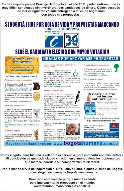 Bogotá y el mundo más humano.
