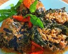 Resep masakan indonesia buntil daun talas spesial (istimewa) praktis mudah sedap, nikmat