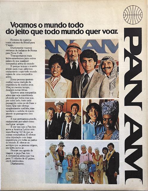 Anúncio Pan Am 1979 - Revista Manchete
