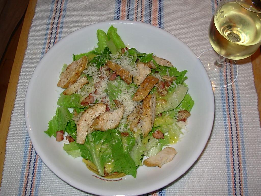 Zolasoleil sous le soleil cuisine et v lo recettes - Recette salade cesar au poulet grille ...