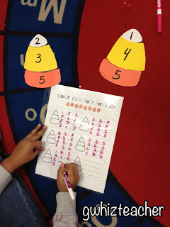 gwhizteacher, candy corn fact families, fall math centers