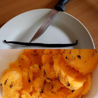 Troisieme étape : Mettre de la vanille sur le melon