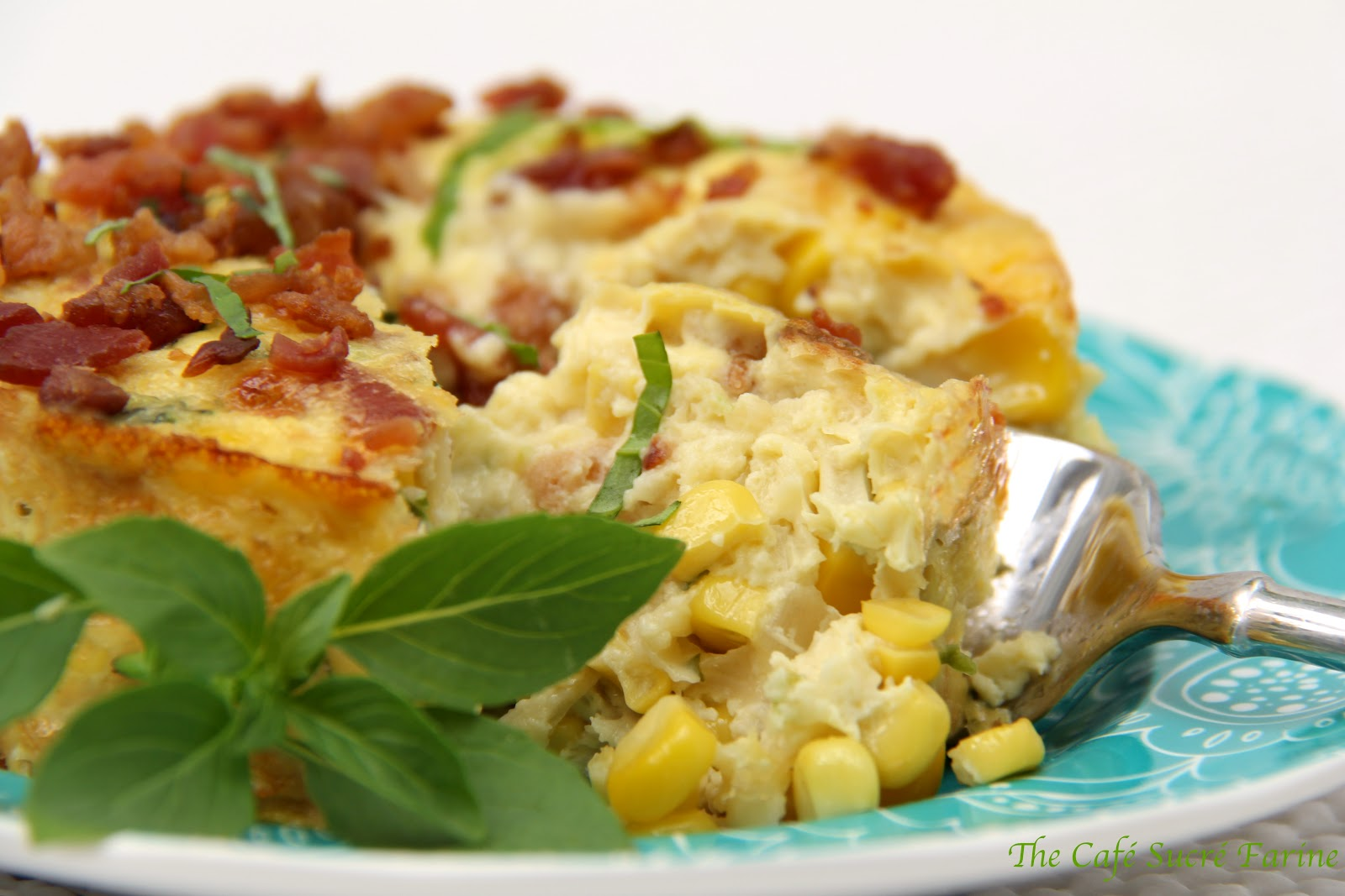 Crustless Quiches w/ Sweet Corn, Fresh Basil and Applewood ...