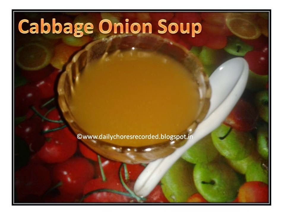 Cabbage Onion Soup